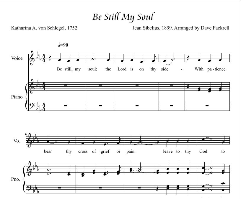 Be Still My Soul-Solo